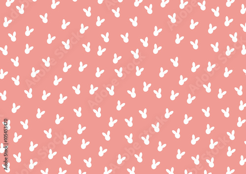 Foto-Plissee - Pattern with Cute Silhouette Rabbits,Vector illustration (von suwaruk)