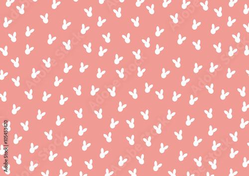 Foto-Tapete - Pattern with Cute Silhouette Rabbits,Vector illustration (von suwaruk)