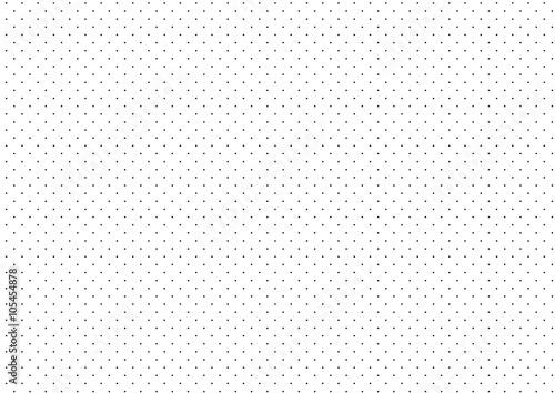 Cotton fabric Black Dots White Background Vector Illustration