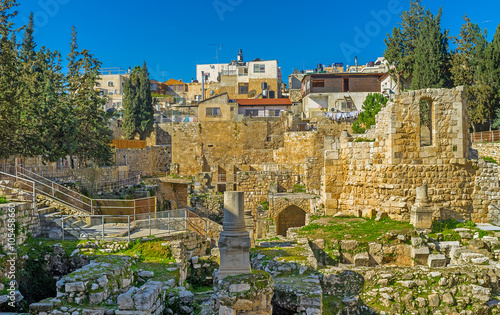 Poster Moyen-Orient The Byzantine ruins