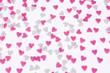 Viele rosa und weiße Herzen Liebe