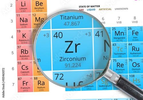 Valokuva Zirconium symbol - Zr