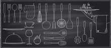 Set Of Kitchen Utensils And Ta...