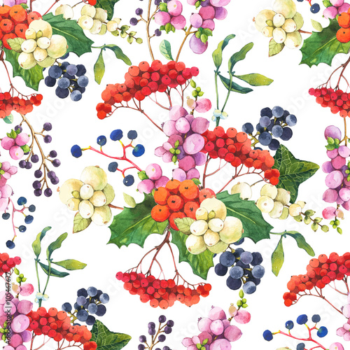 Cotton fabric Seamless floral pattern with flowers on a white background.