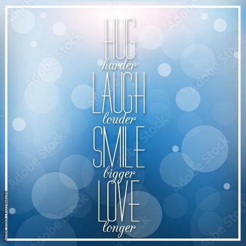 Photo  Inspirational quotation on creative, elegant background.