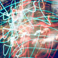 Abstract motion of city traffic lights