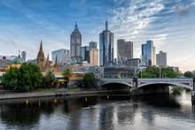 Melbourne's Central Business District On The Northbank Of The Yarra River