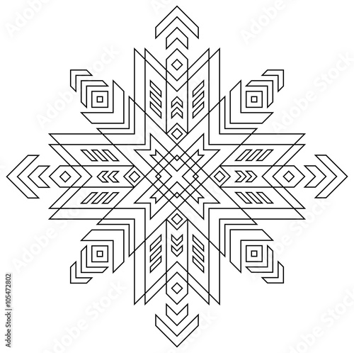 Black And White Pattern Of Latvian Symbol Vector Image Buy This