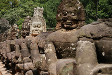 Ancient Statues In Angkor Wat,...