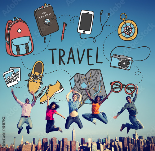 Fotografia  Travel Holiday Tourism Transportation Vacation Concept