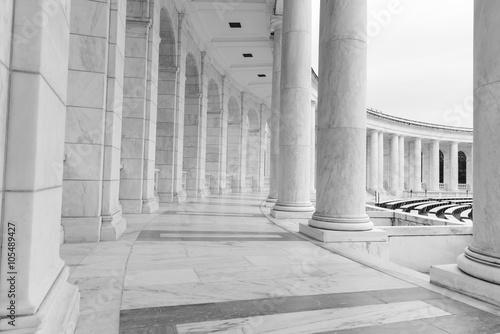 Wallpaper Mural Black and White Pillars