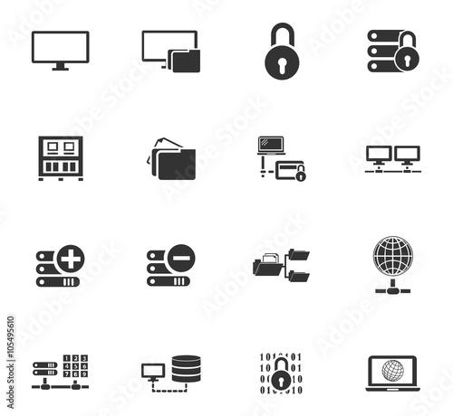 Fototapety, obrazy: Internet, server, network icons set