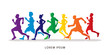 Running , Marathon designed using colorful colors graphic vector.