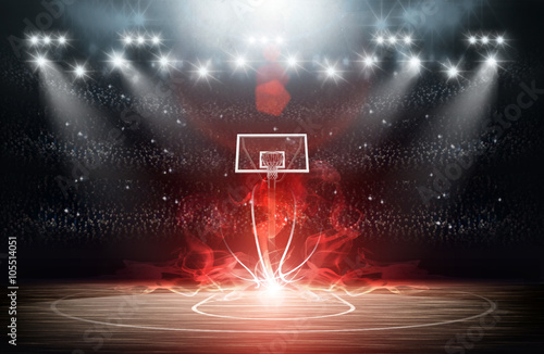 Basketball arena Canvas Print