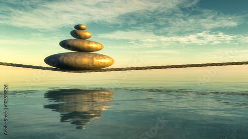 Fotografie, Tablou  Zen stones
