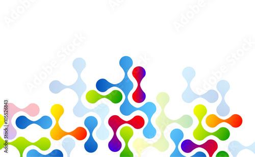 Photo molecole, incastro, puzzle, astratto