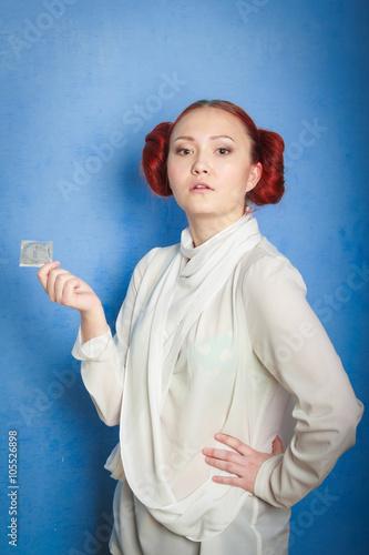 Leia Organa Solo girl with a condom Canvas Print