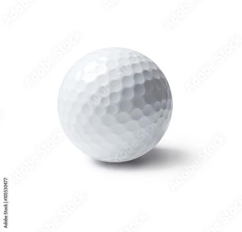 Carta da parati golf ball, isolated on white