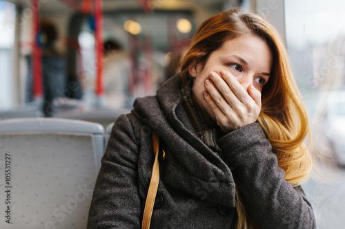 Fotografie, Obraz  Displeased in the bus