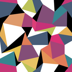 Panel Szklany Abstrakcja Colorful abstract triangles. Seamless abstract geometric pattern
