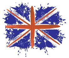 Great Britain Grunge Flag, United Kingdom (UK) - Abstract Grunge Vector Illustration