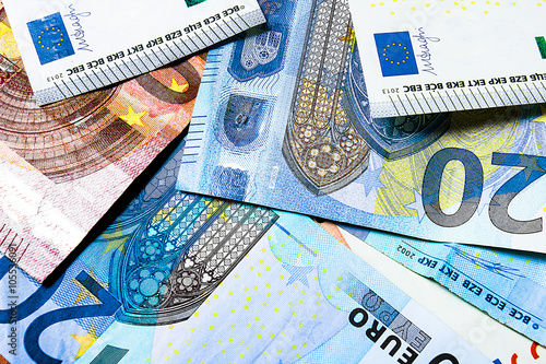 Cuadros en Lienzo background European Money
