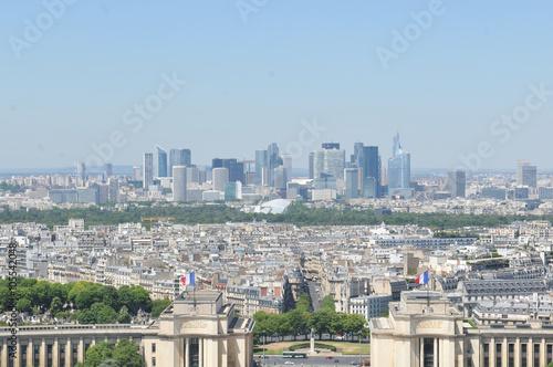 Poster de jardin Paris Aerial view of Paris, France