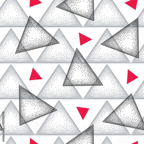 bezszwowy-wzor-z-kropkowanym-trojbokiem-w-czerni-szarosc-i-czerwieni-na-bialym-tle-streszczenie-trojkat-tlo-elementy