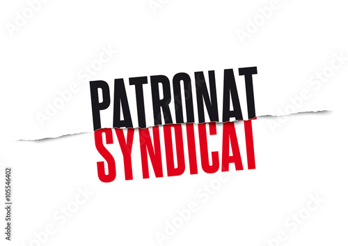 Photo  Patronat contre Syndicat