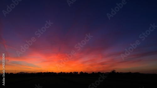 Colorful sunset sky Wallpaper Mural
