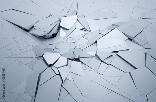Fototapeta  Abstract 3d rendering of cracked surface