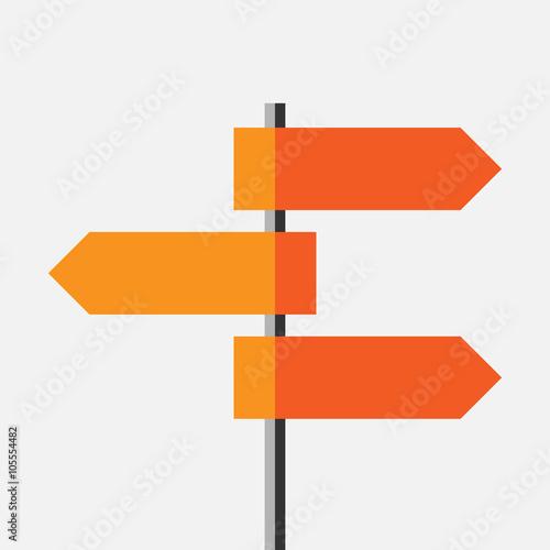 Fotografía  Direction route sign