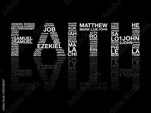 Faith from bible word, graphic, vector. Fototapet