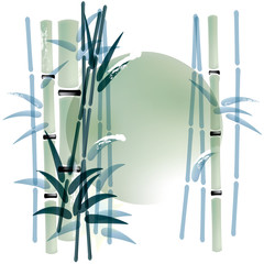 FototapetaInk or watercolor painted bamboo background