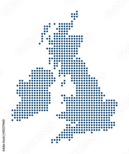 Photo  Map of the British Isles