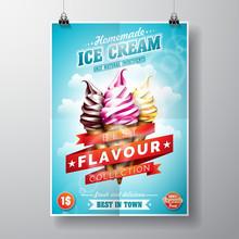 Vector Delicious Ice Cream Fly...