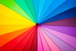 canvas print picture - rainbow spectrum multicolored background of an umbrella