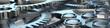 canvas print picture - Zähnräder in Maschine als Panorama