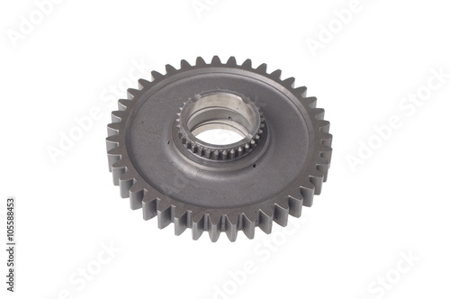 metal sprocket isolated on white Poster
