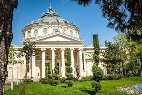 Photo The Romanian Athenaeum (Ateneul Roman) is a concert hall in the center of Bucharest, Romania, landmark of the Romanian capital city