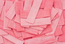 Pink Bubble Gum Background