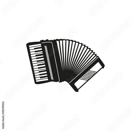 Fotografía  Vector illustration of Accordion on white background
