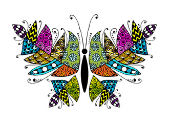 Naklejka Colorful butterfly for your design