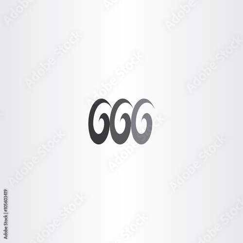 Fotografia, Obraz  black devil number 666 six icon vector