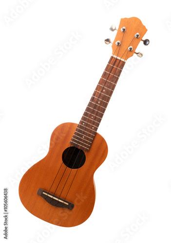 Fotografie, Obraz ukulele in fondo bianco