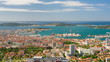 Timelapse of Toulon in a summer day