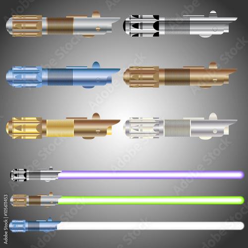 Photo Set of Realistic Light saber blade