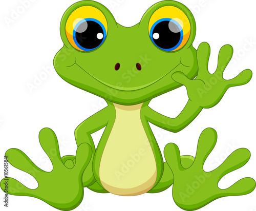 Śliczna kreskówki żaba