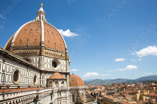 Deurstickers Florence Dramatic View of the Cathedral of Santa Maria del Fiore in Florence, Italy