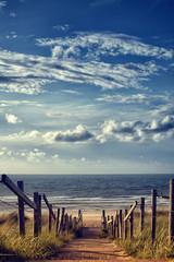 Obraz na SzkleWeg zum Strand am Meer